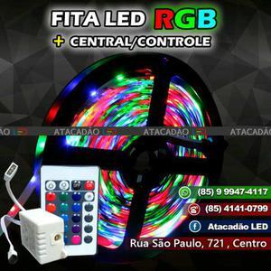 Fita de Led Rgb Colorida + Central e controle