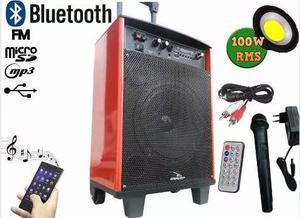 Caixa de som profissional com buetooth + microfone e