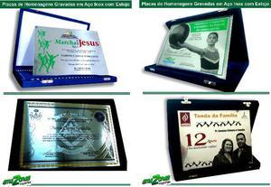 Placas de aço - Placas personalizadas