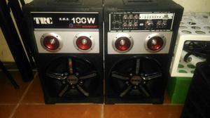 Caixa de Som Amplificada TRC-348 com Entrada USB/SD 100 W