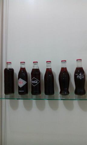 Coleção garrafas retrô coca cola
