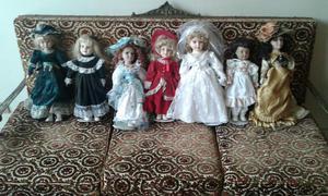 Lote de bonecas antigas em porcelana