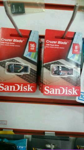 Pen drive e cartão de memória!