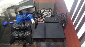 Playstation 2 Slim Desbloqueado + 3 controles + 1 Memory