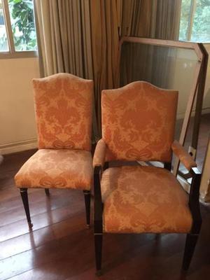 Cadeiras para mesa de jantar espaldar alto estofadas