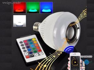 Lampada de led colorida com buetooth + controle
