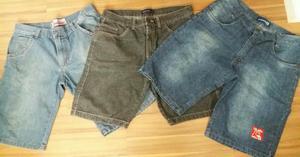 Lote bermuda jeans masculina as 3 bermudas por