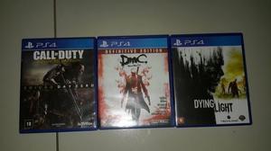 3 Jogos Fisico de Ps4