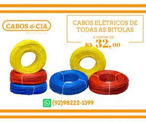 Cabos elétricos de todas as bitolas (Flexível)