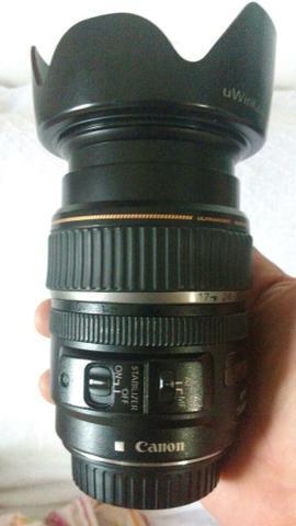 Lente Objetiva Canon EFS - Estabilizador de Imagem