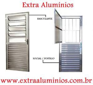 Porta Social ou Porta Basculante de Alumínio