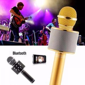 Super Microfone bluetooth karaoke mp3 gravação de voz