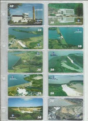Cartões telefonicos - series completas