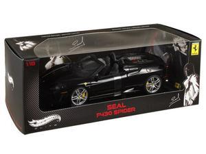 Ferrari F430 Spider Seal 1:18, preta, Hot Wheels Elite: