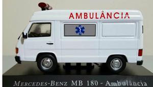 Miniatura Ambulância Mercedes-Benz MB 180