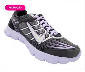 Tênis Feminino Nike Air Preto e Lilás
