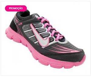 Tênis Feminino Nike Air Preto e Pink