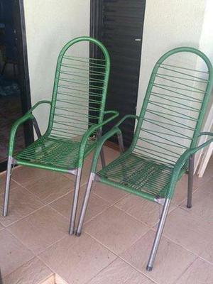 """Cadeiras """"Macarrão"""" e Banquetas de madeira - Leia anúncio"""