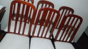 Conjunto de 6 Cadeiras para Mesa de Jantar (de Madeira e
