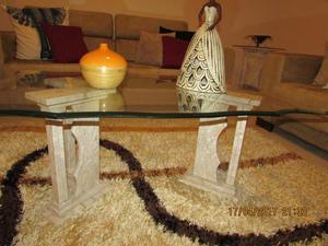 Mesa de centro e lateral mármore