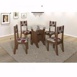 Mesa de vidro 4 cadeiras/ novo e embalado