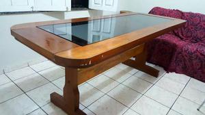 Mesa em madeira de lei 6 lugares