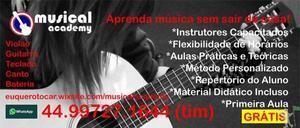 Aulas de Violão, Guitarra, Teclado, Piano, Canto