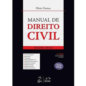 Livro Manual de Direito Civil - Volume Único - Flávio