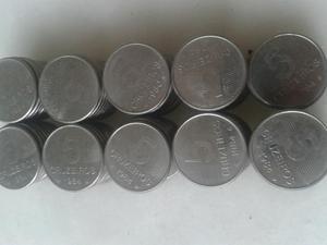 Lote(95) moedas de 5 cruzeiros