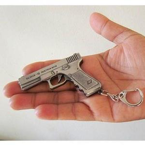 Chaveiro pesado pistola glock metal