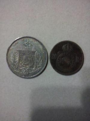 Coleções de moedas de prata bronze e cobre