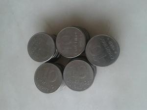Lote (50)moedas de 10 cruzeiros