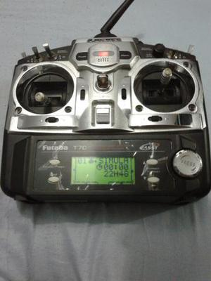 Radio controle para helimodelismo proficional futuba fass 7