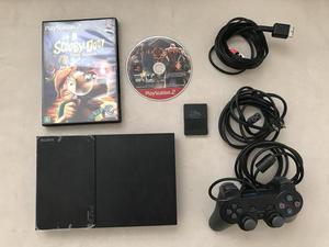 Vendo PlayStation 2 + Controle + Memory Card 16GB + 2 jogos