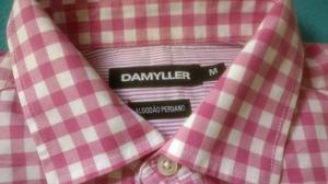 6341dc43bb Camisa Social Manga Longa Damyller