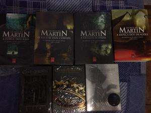 4 Livros Game Of Thrones e 3 temporadas completas da série