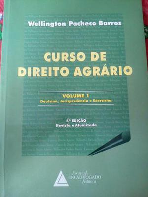 Curso de Direito Agrário volume 1 e 2