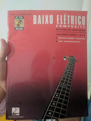 Livro Baixo elétrico - Dan Dean, completo, inclui CDs