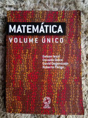 Matemática - Volume Único EM ESTADO DE NOVO!