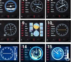 Pro Flight Instrument Panel-saitek-15 Funções Em