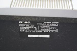 Caixas de som originais AIWA com Subwoofer