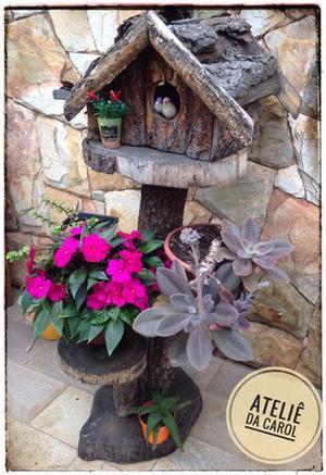 Casinha de Madeira Para Plantas!Seu Jardim Merece Essa Arte