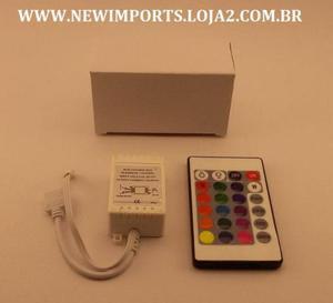 Central e Controle Para Fita de Led RGB