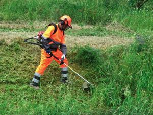 Limpeza de terreno com Roçadeira