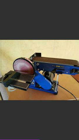 Lixadeira de bancada combinada cinta e disco, bivolt