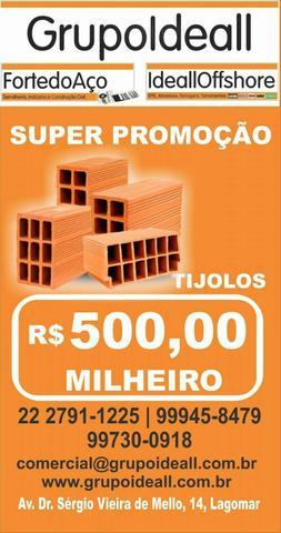 Promoção de tijolos!!! garanta seu material!