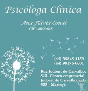 Psicóloga Ana Flávia Conde