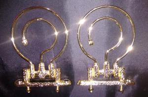 2 Ganchos Dourados Grandes Luxo Para Gaiola