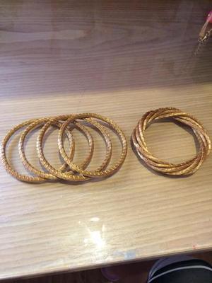 Kit Pulseiras Douradas