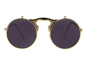 be084ef09e378 Óculos de sol redondo vintage com lente dupla